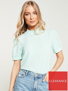 v-by-very-high-neck-short-sleeve-top-mint