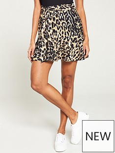 26bee6c37 V by Very Flippy Hem Skirt - Leopard Print