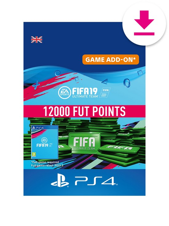 1ab1b27f6045 Playstation 4 12000 FIFA 19 Points Pack - Digital Download | very.co.uk