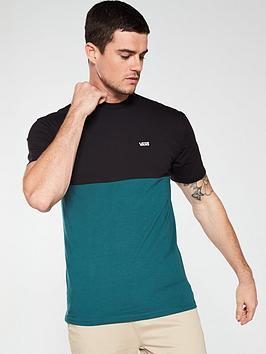 vans-colourblock-t-shirt-blackgreen