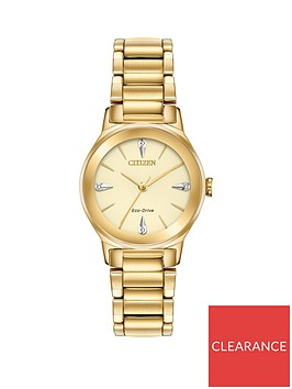 citizen-citizen-eco-drive-gold-and-diamond-dial-gold-stainless-steel-bracelet-ladies-watch