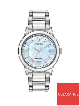 citizen-citizen-eco-drive-blue-mother-of-pearl-dial-stainless-steel-bracelet-ladies-watch