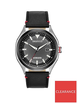 citizen-citizen-eco-drive-gunmetal-grey-date-dial-black-leather-strap-mens-watch