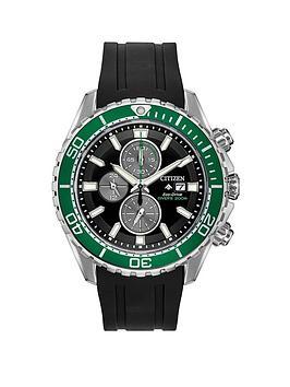 citizen-citizen-eco-drive-promaster-black-and-green-detail-chronograph-dial-black-silicone-strap-mens-watch