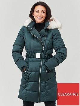 michelle-keegan-premium-longline-padded-coat-forest-green
