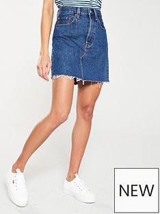 59639320c8 Levi's High Rise Deconstructed Iconic Skirt - Denim