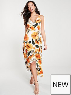 ax-paris-floral-wrapnbspmidi-dress-orangecream