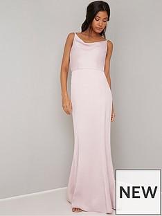 c74b1624d57 Chi Chi London Sima Cowl Neck Maxi Dress - Pink