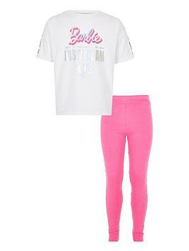 river-island-girls-barbie-pyjama-set-pink