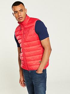 barbour-international-brake-gilet-red