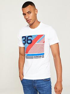 barbour-international-distorted-line-t-shirt-white