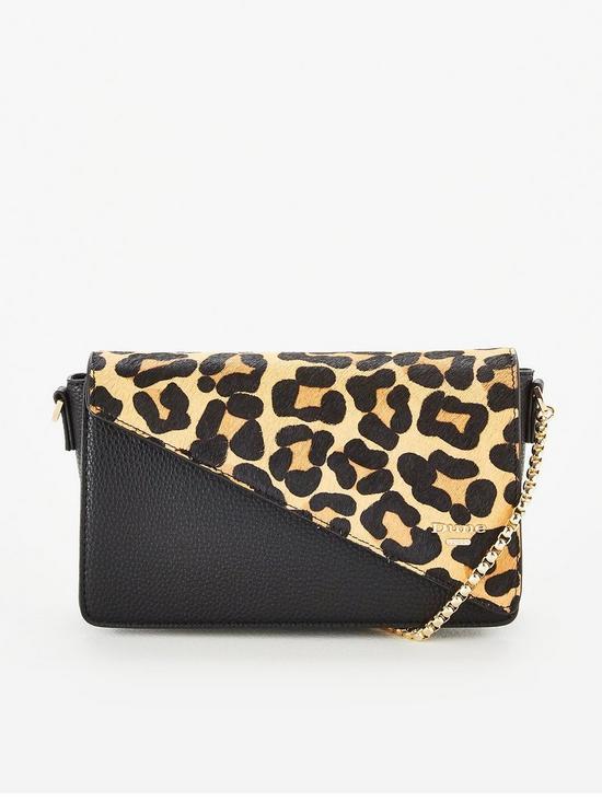 66a8642c8d023 Dune London Erina Leopard Print Bag