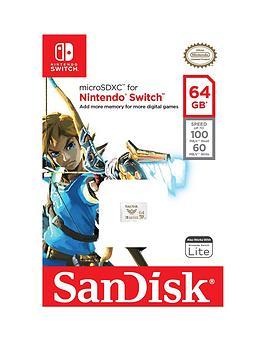 Sandisk Microsdxc Uhs-I Nintendo Switch 64Gb Memory Card