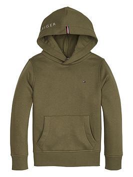 tommy-hilfiger-boys-essential-flag-hoodienbsp--olive