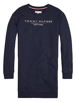 tommy-hilfiger-girls-crew-logo-sweat-dress-navy