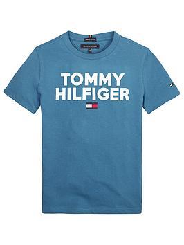 tommy-hilfiger-boys-short-sleeve-logo-t-shirt-blue