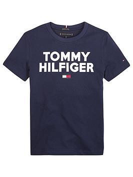 tommy-hilfiger-boys-short-sleeve-logo-t-shirt-navy