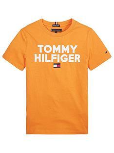tommy-hilfiger-boys-short-sleeve-logo-t-shirt-orange