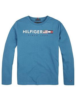 tommy-hilfiger-boys-long-sleeve-graphic-t-shirt-blue