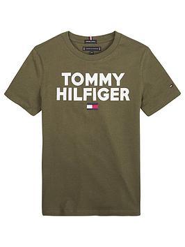 tommy-hilfiger-boys-short-sleeve-logo-t-shirt-olive