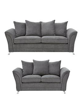 Dury Fabric 3 Seater + 2 Seater Scatter Back Sofa Set (Buy And Save!)