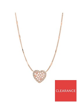 fossil-fossil-vintage-glitz-mother-of-pearl-and-rose-gold-mosaic-heart-pendane-ladies-necklace