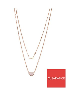 fossil-fossil-over-the-moon-marble-and-rose-gold-pendant-layered-ladies-necklace