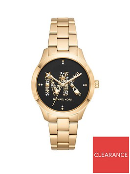 michael-kors-michael-kors-runway-black-and-gold-glitz-logo-dial-gold-stainless-steel-bracelet-ladies-watch