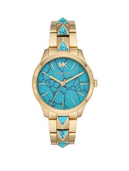 michael-kors-michael-kors-runway-turquiose-and-gold-detail-dial-gold-stainless-steel-and-turquoise-pyramid-bracelet-ladies-watch