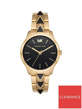 michael-kors-michael-kors-runway-black-and-gold-detail-dial-gold-stainless-steel-and-black-pyramid-bracelet-ladies-watch
