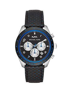 michael-kors-michael-kors-keaton-black-sunray-with-silver-and-blue-detail-chronograph-dial-black-and-blue-perforated-silicone-strap-mens-watch