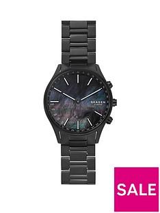 skagen-skagen-black-mother-of-pearl-dial-black-titanium-bracelet-mens-hybrid-watch