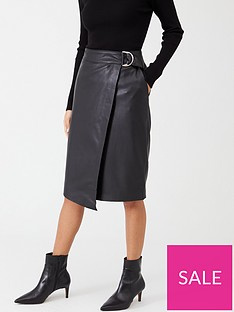 ted-baker-dyanah-faux-leather-wrap-skirt-black