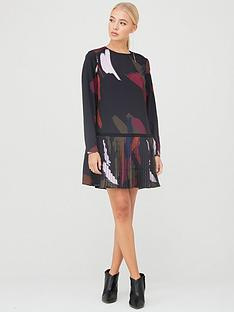 ted-baker-rosarnnbspsapphire-printed-long-sleeve-tunic-black