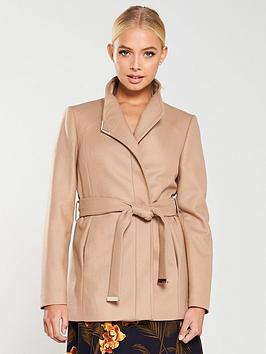 ted-baker-drytaa-short-wrap-coat-taupe