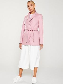 ted-baker-drytaa-short-wrap-coat-pink