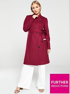 ted-baker-ellgenc-long-belted-wrap-coat-oxblood