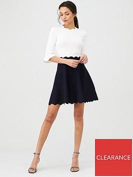 ted-baker-lauron-sleeve-detail-knitted-skater-dress-dark-blue