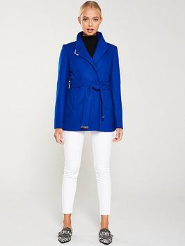 ted-baker-drytaa-short-wrap-coat-blue