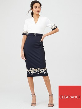 ted-baker-avii-pearl-v-neck-bodycon-dress-dark-blue