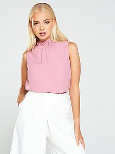 ted-baker-audrye-ruffle-neck-sleeveless-top-pink