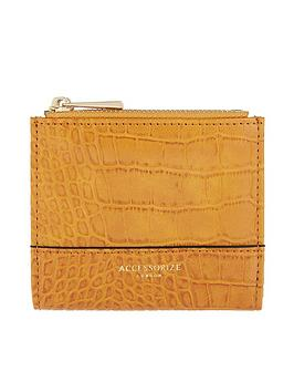 accessorize-croc-bella-wallet-ochre