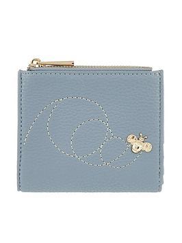 accessorize-queen-bee-embossed-bella-wallet-blue