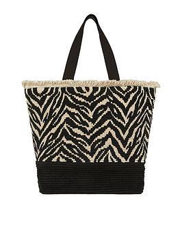 accessorize-zahara-zebra-tote-blackwhite