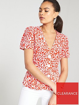 river-island-river-island-red-spot-button-through-tea-blouse--red