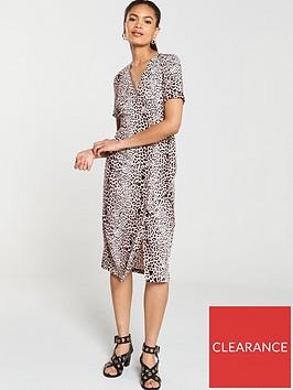 river-island-river-island-leopard-print-button-detail-midi-dress--brown