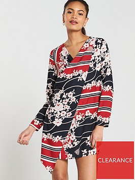 river-island-river-island-floral-scarf-print-swing-dress--red