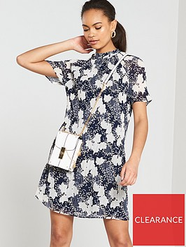 river-island-river-island-floral-pleated-swing-dress--navy