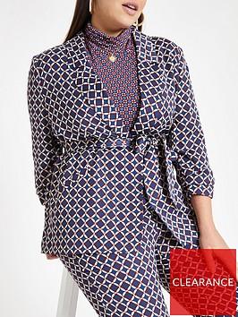 ri-plus-geo-print-belted-blazer--blue