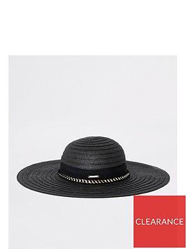 river-island-river-island-oversized-floppy-straw-hat-black